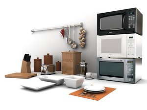 kitchen microwaves 3d model