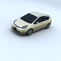 3d toyota prius vehicle car