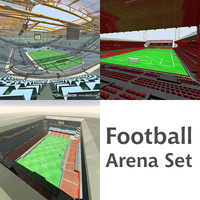 Footaball arena set