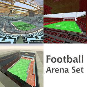 football arenas 3d max