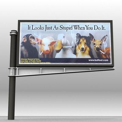 advertising billboards 4x3 wide 3d 3ds