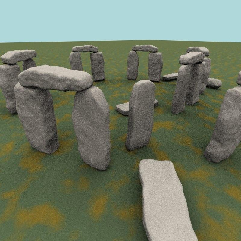 3d model stonehenge