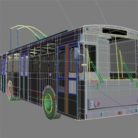 3ds max trolleybus bus