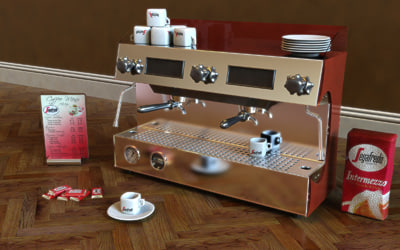3d model segafredo espresso machine