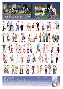 3d silhouettes - figure profiles model