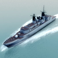 royal navy type22 3d model