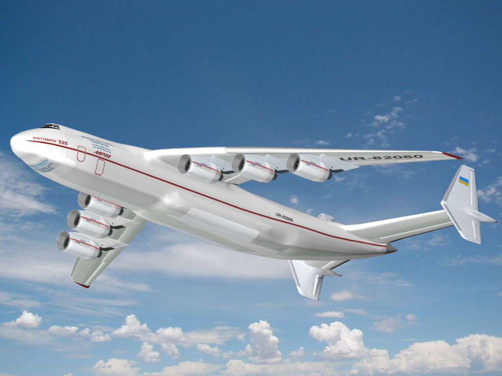 antonov an-225 mriya aircraft 3d model