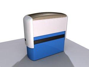 3d stamp office model