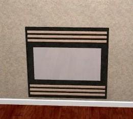 free generic fireplace screen 3d model