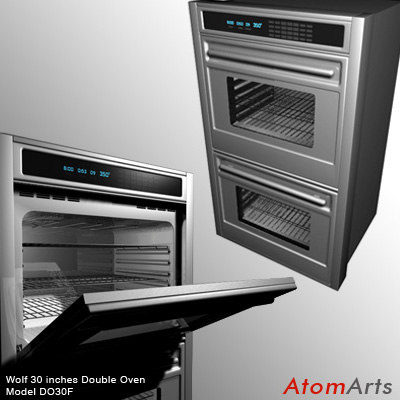 3d model wolf double oven