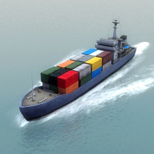 europa container transport 3d max