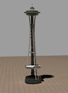 3d space needle landmark model
