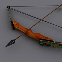 bow compound arrows 3d model