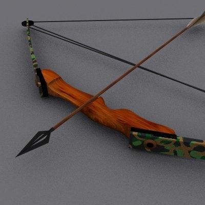 bow compound arrows 3d model