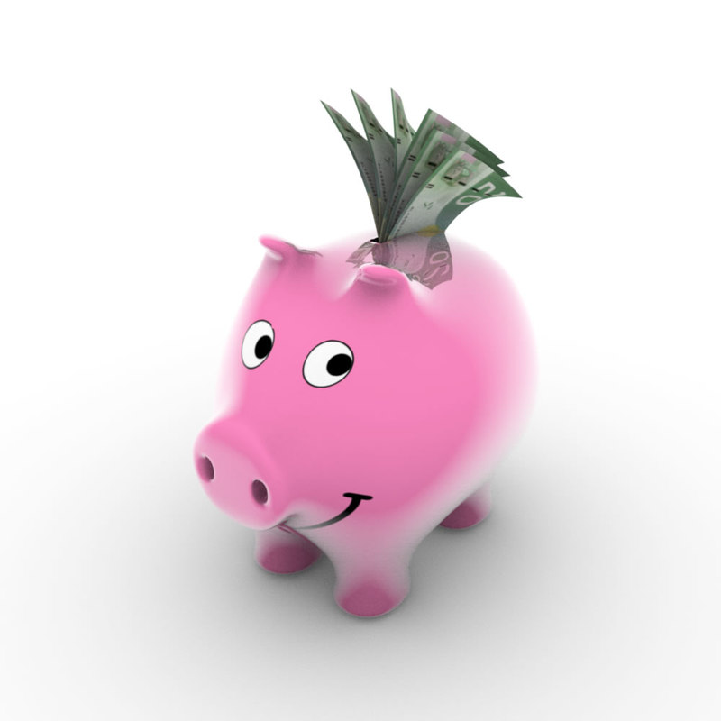 free blend model piggy bank