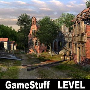 3d destroyed level model