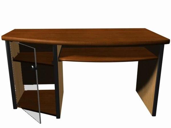free desk 3d model