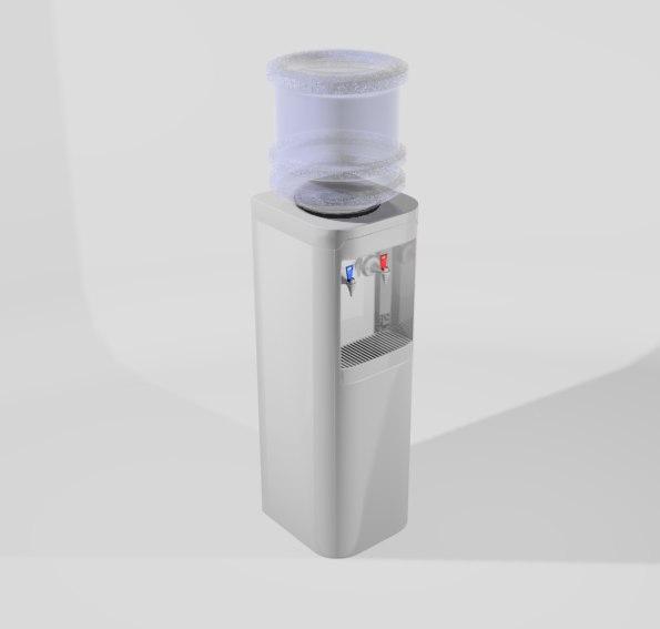office water cooler 3d model