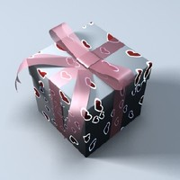 gift box 3d lwo