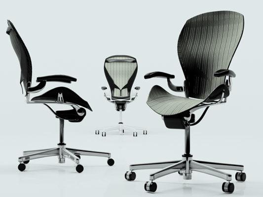 3d model herman miller aeron chair