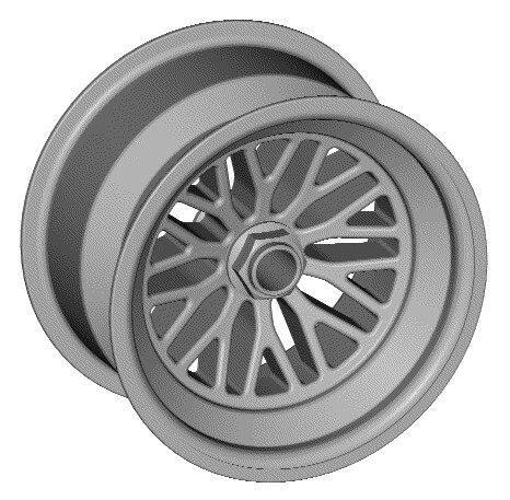 3d race wheel model