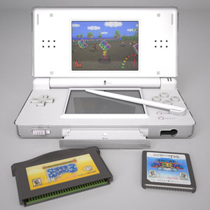 nintendo ds lite 3d model