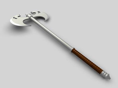 3d dragon fantasy axe