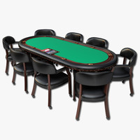 3d model of poker table