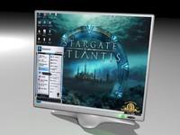 lcd monitor 3d max