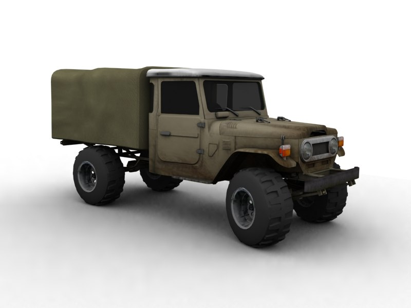 toyota landcruiser fj45 canvas 3d model