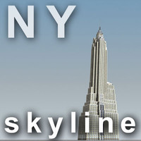 NY skyline - american international building.zip