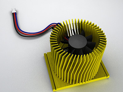 3d model pentium-4 cpu cooler socket