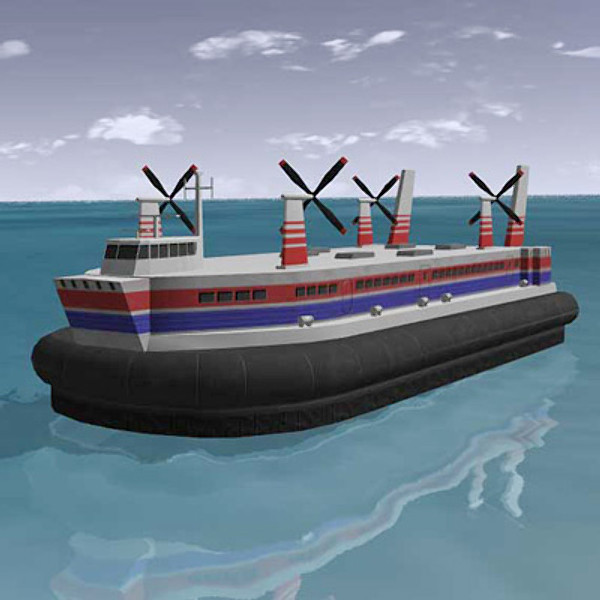 hovercraft realtime 3d model