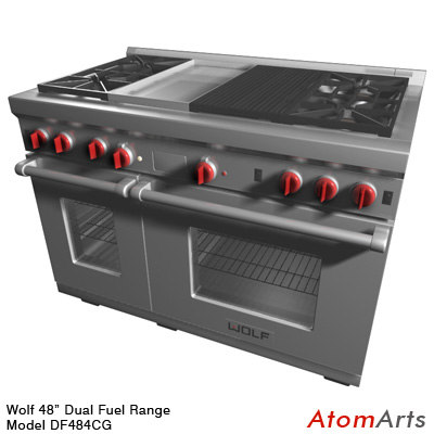 3d wolf 48 inch dual fuel model