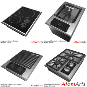 wolf integrated cooktops 3d model