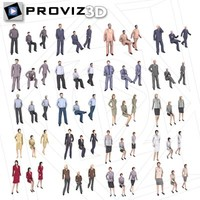 3D People: 60 Still Business People Vol. 01