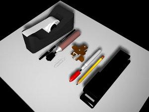 lwo pencil stapler marker