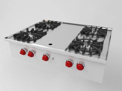 wolfe gas range 3d model