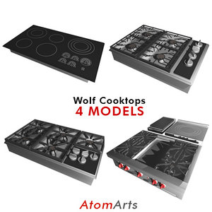 wolf cooktops 4 3d model