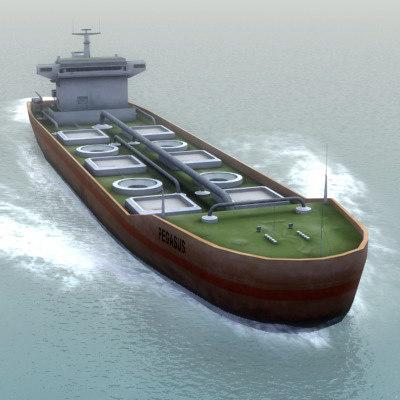 3d model of pegasus oil tanker transport