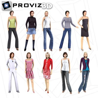 3ds max people casual women