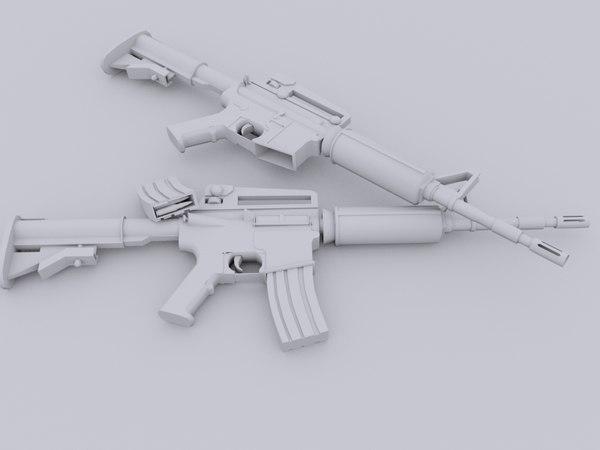3d m4a1 m4 model