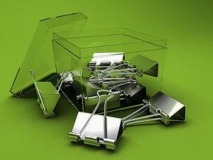 binder storage box clips 3d model
