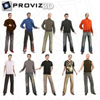 3d people casual men model