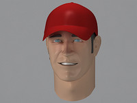 3ds max male teenage jock human head