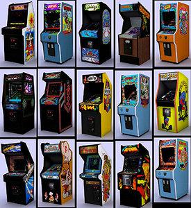 - classic arcade pack 3d model