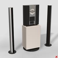 3d model of cd speakers