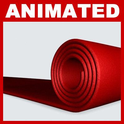 red carpet animation 3d model