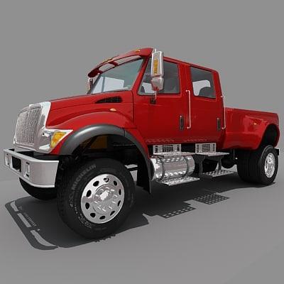 3d model truck pickup internationalcxt
