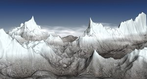 3ds max snow mountain